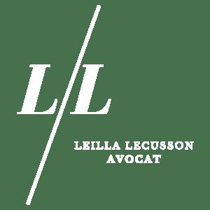 Logo blanc du cabinet Lecusson avocat en Guadeloupe